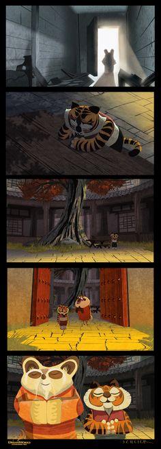 Kung Fu Panda's Master Shifu meets Tigeress in the Orphanage when she was young
