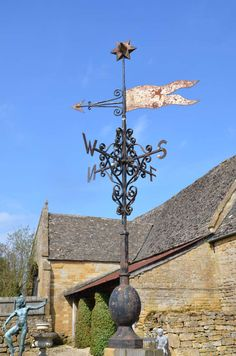 Wrought and Cast Iron Weather Vane | From a unique collection of antique and modern weathervanes at http://www.1stdibs.com/furniture/folk-art/weathervanes/
