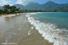 Hanalei Bay. Take Kauai Trailblazer with you. www.trailblazertravelbooks.com