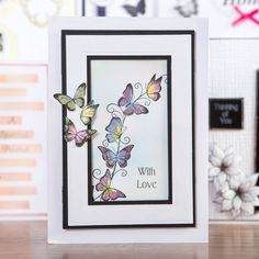 Honey Doo Crafts Just Incase collection - Butterfly Border and Just Incase Clear Polymer Stamp Sets - 12 Elements Card Making Inspiration, Making Ideas, Honey Doo Crafts, Pin Card, Cardmaking And Papercraft, Create And Craft, Butterfly Cards, Handmade Birthday Cards, Pretty Cards