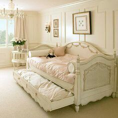 Lovely- use crib ends and king headboard as back