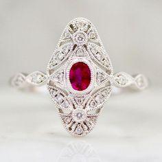 French Quarter Ruby And Diamond Ring - Gem Breakfast