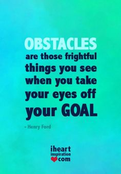 Don't take your eyes off your GOAL