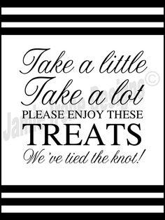 #Wedding Reception Candy Bar/Buffet Sign or by WeddingsByJamie