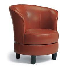 Attrayant Rebecca Leather Swivel Chair   Grandin Road