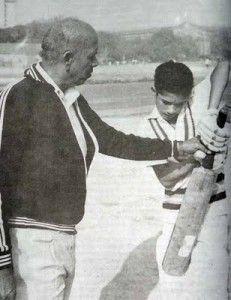 Sachin Tendulkar witth his coach Ramakant Achrekar.