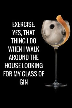 How often do you keep fit? Gin Quotes, Alcohol Quotes, Alcohol Humor, Funny Quotes, Food Quotes, Fun Cocktails, Cocktail Drinks, Alcoholic Drinks, Beverages