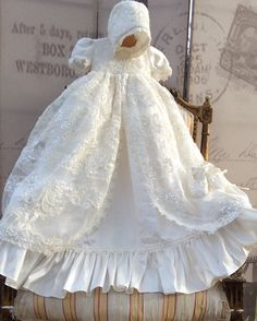 ADELINA This is one of our best sellers, ADELINA by Elena. This extravagant, royal heirloom silk Baptism gown is specially made for Christenings. Heirloom quality that you can pass on for generations                                                                                                                                                                                  More