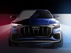 Audi previews upcoming Q8 with Detroit e-tron Concept sketches