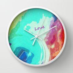 Love by Geni Wall Clock