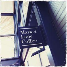 Market Lane Coffee, Building Signage