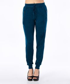 This Teal Zipper-Pocket Lounge Pants by tresics is perfect! #zulilyfinds