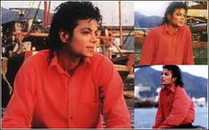 <3 Michael Jackson <3 - I love this collage, he looks so handsome in these pictures on that boat :)