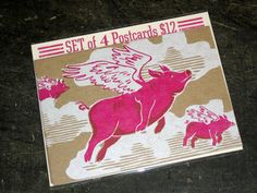 Great letterpress postcard set by Firecracker Press in St. Louis