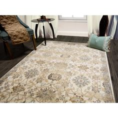 Unbranded Bazaar Luminous Ivory 8 Ft X 10 Ft Indoor Area Rug 1 220 100 The Home Depot Indoor Area Rugs Area Rugs Home Dynamix