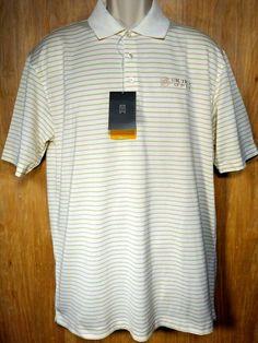 9052bb8e TIGER WOODS Men's Nike Dri Fit Golf Shirt Size Medium NEW Buick Open Cream  Polo #