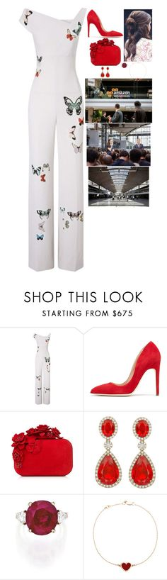 """Launching the Station F Startup Campus and attending the party afterwards"" by fashion-royalty ❤ liked on Polyvore featuring Roland Mouret, Rupert Sanderson, Jimmy Choo and Van Cleef & Arpels"