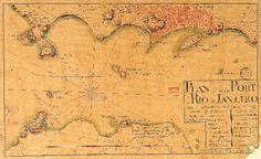 178- São Sebastião do Rio de Janeiro - 1762<br /> <br /> 'PLAN de l'entré du PORT de RIO de JANEIRO dans l'etat qu'il se trouvait dans l'année de 1762'.<br /> autor: Jean Barthelemy Hovel.<br /> fonte: Original manuscrito da Bibliothèque Nationale, Paris.<br /> Planta que mostra com algumas imperfeições a Baía de Guanabara e a cidade do Rio de Janeiro, em 1762. Segundo Ferrez, teria sido elaborada para orientação de uma grande esquadra francesa, que deveria atacar o Rio de Janeiro naquele…