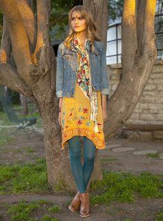 Johnny Was: Tara 3/4 Sleeve Handkerchief Dress