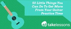 Does guitar practice ever feel overwhelming, too hard, or like a chore? Take a tip or 50 from guitar teacher Jerry W. and you'll have enough material to work with to keep practice fun for the…