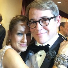 Sarah Jessica Parker and Matthew Broderick know how to take a selfie.