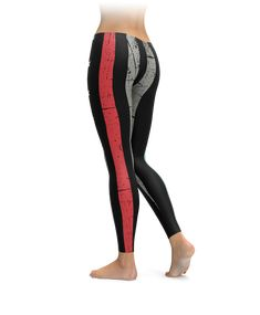 Are you a firefighter? Or do you love a firefighter? These soft, warm, comfortable leggings are the perfect to show the world who and what you love!