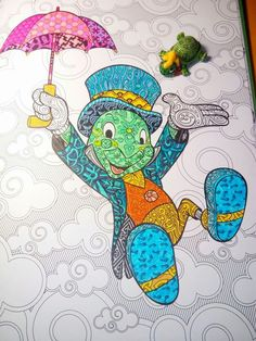 Pin by sarah krupp on zentangles in 2019 Disney Sketches, Disney Drawings, Cartoon Drawings, Cute Drawings, Disney Pixar, Arte Disney, Disney Paintings, Disney Artwork, Mandalas Drawing