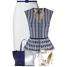 """Blue & White"" by oribeauty-cosmeticos on Polyvore"
