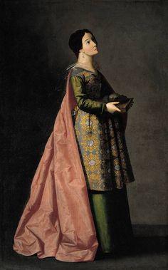 «Santa Emerenciana», de Francisco de Zurbarán, h. 1635