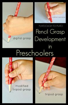 Pencil Grasp in Preschoolers. What it looks like and how to teach it.