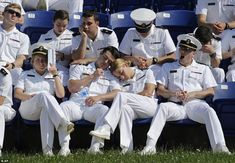 In three hours they would be commissioned officers in the US Navy and Marine Corps - but first the Class of 2016 wanted a quick snooze