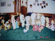 Precious Moments Nativity On Wood - Acrylic