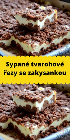 Sypané tvarohové řezy se zakysankou Baking Recipes, Cake Recipes, Sweet Factory, Mini Pies, Cake Cookies, Food Inspiration, Nutella, Sweet Recipes, Food And Drink