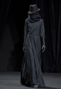 all black everything - A.F. Vandevorst Fall/Winter 2012 Ready to Wear