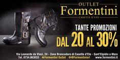 Tante promozioni da Formentini Outlet !! Vi aspettiamo questo week-end in Zona Brancadoro Casette D'ete!  Siamo aperti Venerdì e Sabato dalle 10.00 alle 20.00 (orario continuato) e Domenica dalle 16.00 alle 20.00