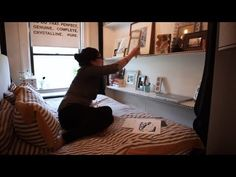 Woman's half-bedroom apt has awesome design - Tiny, Eclectic, Amazing Sp...