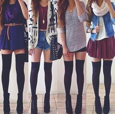 They call dis fall fashion but i say hecka no theres no way i'm going outside wearing this or to school even. The outfits are cute, though.