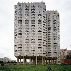 Modern Forms photography series by Nicolas Grospierre. Residential Tower, Saint Petersburg, Russia, 2007
