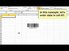 15 Best Barcoding in Excel Video Tutorials images in 2012