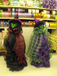 These witches are made out of Deco Mesh