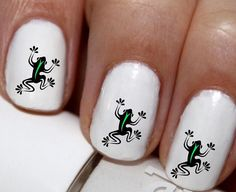 20 pc Jumping Frog Tree Frog Cute Frog Nail Art Nail Decals Nail Stickers Lowest…
