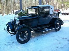 Ford : Model A Black 1929 Barn Fresh Ford Model A Sport Coupe - http://www.usabarnfinds.com/archives/8961
