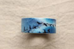 Bird Washi Tape | Nature Washi Masking tape | Sky Decorative Tape - 15mm x 7m - journaling / letter writing / collage - 1023
