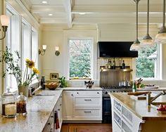 Kitchen Benjamin Moore Walls Bone white cabinets and trim are Linen White