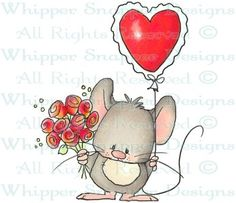 Valentine Mouse - Valentine's - Holidays - Rubber Stamps - Shop