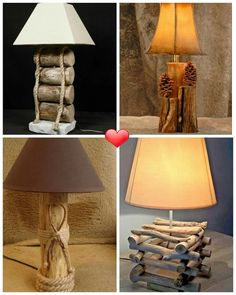Foto Beach Crafts, Table Lamp, Lighting, Home Decor, Google, Diy Decorating, Home Decoration, Hipster Stuff, Stems