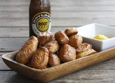 Garlic Butter Soft Pretzel Bites ~ via Foodie with Family Garlic butter is everything a soft pretzel ever wanted and more. It leaves your fingers buttery and garlicky and you are forced -nay, compelled!- to lick your fingers your fingers clean of salt and garlic butter after each perfect little pretzel bite.