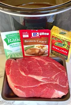 The BEST Easy Slow Cooker Pot Roast (Made with Ranch, Brown Gravy & Italian Dressing Mix) The Most Incredible Easy Slow Cooker Pot Roast Recipe - Instrupix Crockpot Dishes, Crock Pot Cooking, Beef Dishes, Crockpot Meals, Pot Roast Recipes, Slow Cooker Recipes, Cooking Recipes, Yummy Recipes, Crock Pot Recipes
