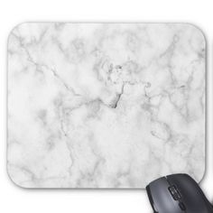 Minimalist White Marble Mousepad - minimal gifts style template diy unique personalize design