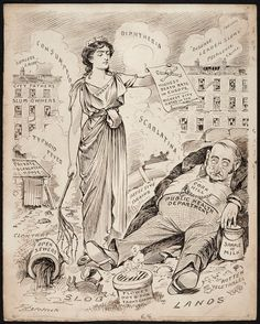 Thomas Fitzpatrick's public health cartoons. In 1905 Fitzpatrick launched the satirical magazine, 'The Lepracaun', to counter Punch magazine's staunch anti-Irish sentiments and depiction of the Irish as ape-like with the noble figure of 'Pat'.  Politicians and publicans, clerics and suffragettes, trade unionists and bosses were all fair game – nor did the man in the street escape his critical eye.  More http://rcpilibrary.blogspot.com/2015/04/thomas-fitzpatrick-public-health.html